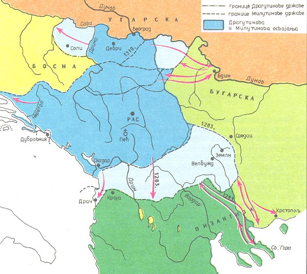 Web Site Map: Realm Of Stefan Dragutin